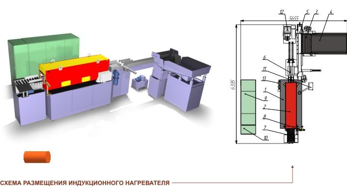 Индукционный нагреватель IH 800 (модель IH 800-A-1-2-2)