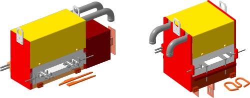 Индукторы проходные овальные для нагрева плоских фигурных заготовок