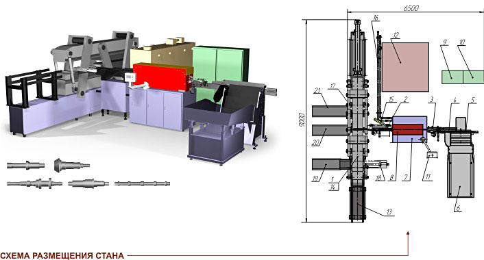 Прокатный стан поперечно-клиновой прокатки SP 3400-2-IH