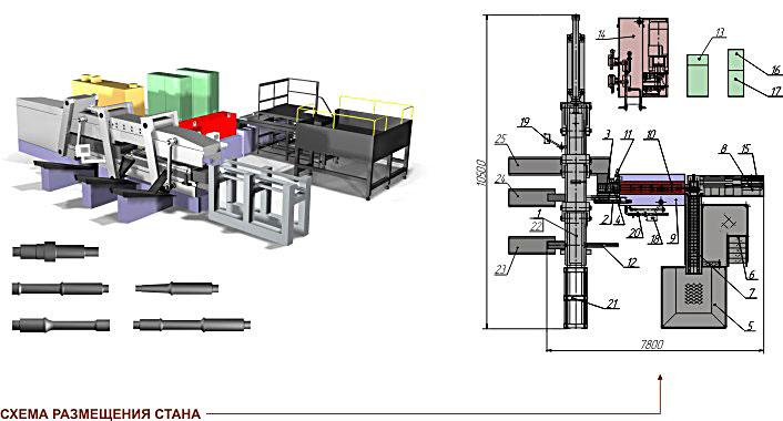Прокатный стан поперечно-клиновой прокатки SP 4200-2-IH
